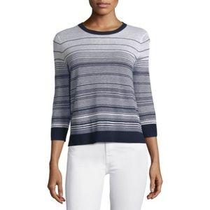 Theory 'Rainee E Prosecco' Striped Linen Sweater S